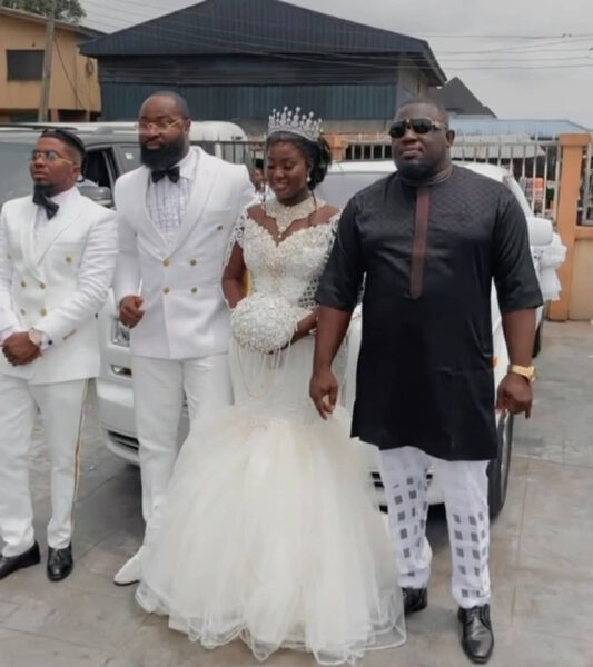 First photos and videos from singer Harrysongs wedding photos