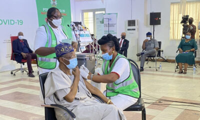 Lai Mohammed other PTF members take the COVID19 vaccine on Live TV