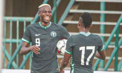 Osimhen Onuachu score as Super Eagles thrash Lesotho 3 0