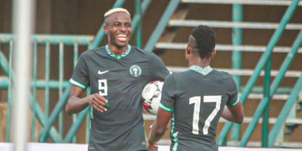 Osimhen Onuachu score as Super Eagles thrash Lesotho 3 0