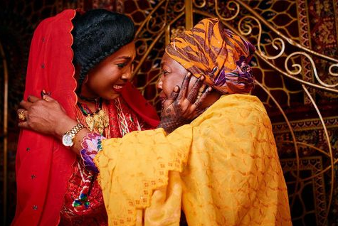 Touching photos of a Nigerian mother crying during her only childs wedding