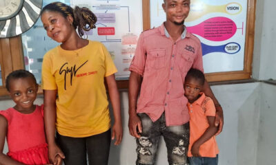 Two children reunited with their families after they were thrown out by their aunt in Calabar