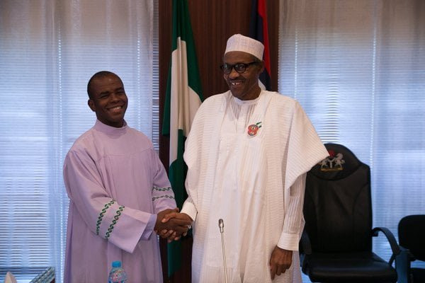 Buharis refusal to give Mbaka contracts as compensation for supporting him has been eating him up Presidency