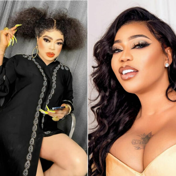 Putting their differences aside Bobrisky sends condolence message to Toyin Lawani on the passing of her father