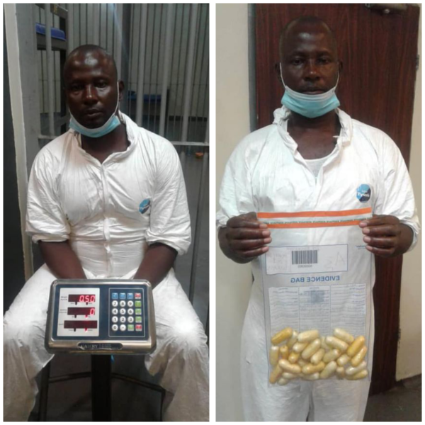 Suspected drug trafficker excretes 97 wraps of cocaine worth N360m at Lagos airport