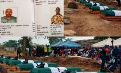 Twelve military officers killed by bandits in Benue laid to rest