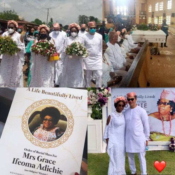 Chimamanda Ngozi Adichies mum laid to rest photos
