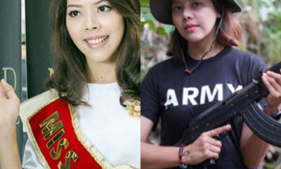 Former beauty queen takes up arms to fight against Myanmars military junta as citizens begin revolution photos