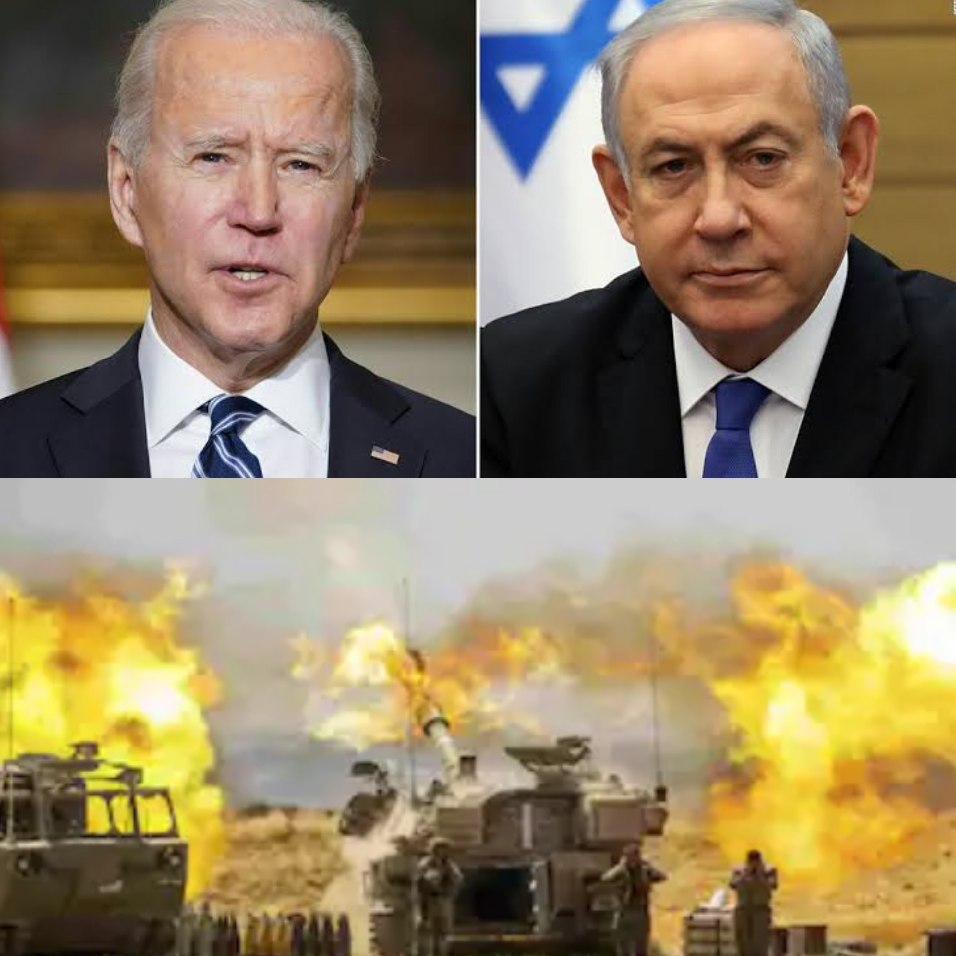 Israeli Prime Minister Benjamin Netanyahu vows to keep on with attacks against Hamas as he rejects Bidens call for 'significant de escalation in Gaza conflict