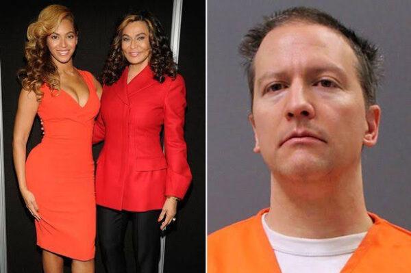 Beyonces mum Tina slams 22.5 years sentencing of George Floyd killer Derek Chauvin