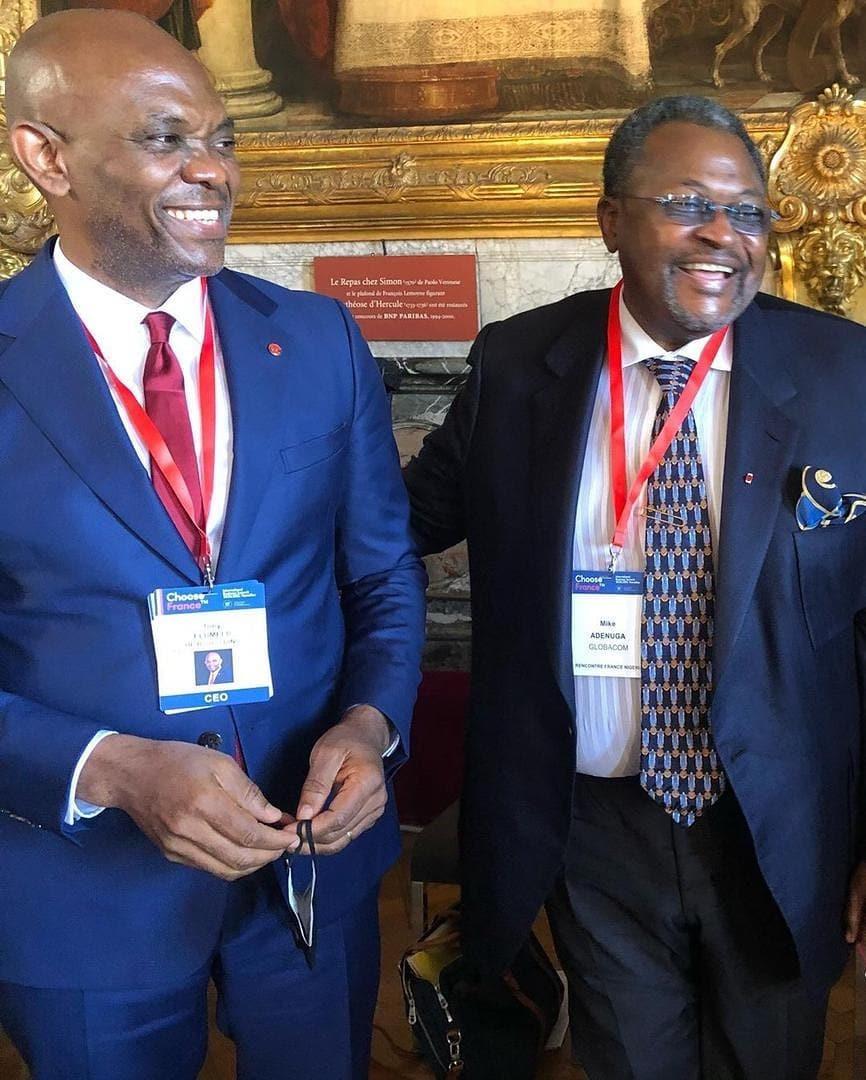 Billionaire businessmen Adenuga Aliko Elumelu Rabiu attend business summit in France photos