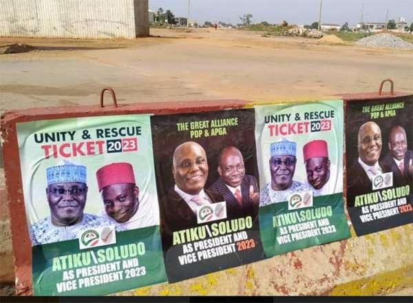 Confusion over Atiku Soludos campaign posters in Abuja