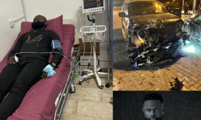 Fashion designer Yomi Casual hospitalised after surviving a ghastly motor accident photos