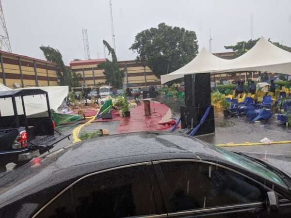How the Windstorm Almost Marred IGs Maiden Visit to Lagos Command