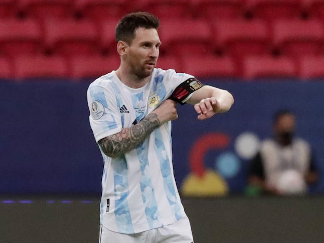 Lionel Messi equals Argentinas all time appearance record