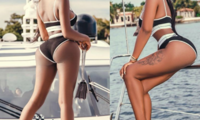Reality star Khloe flaunts her banging body as she poses on a Yacht Photos