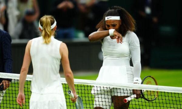Serena Williams broke down in tears s