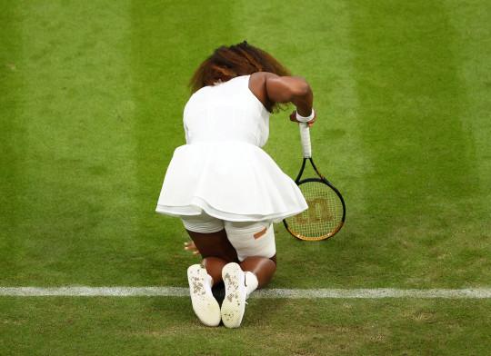 Serena Williams broke down in tears