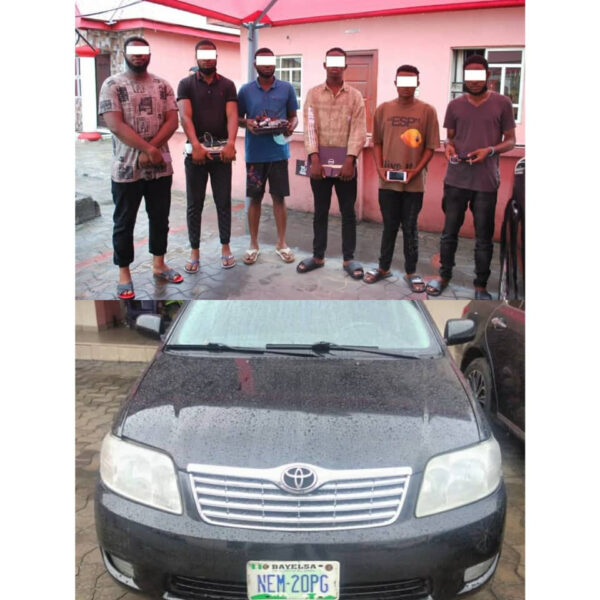 Six suspected internet fraudsters arrested in Port Harcourt photos