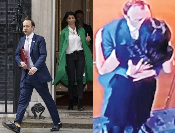 UK Health Secretary Matt Hancock resigns after he was caught locking lips with an aide Photos