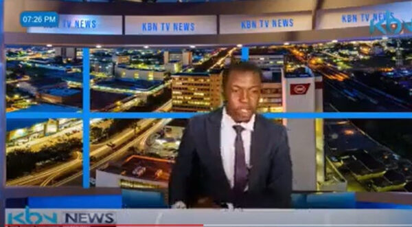 Zambian TV news presenter goes off script demands for his salary and that of his colleagues during a live news report video