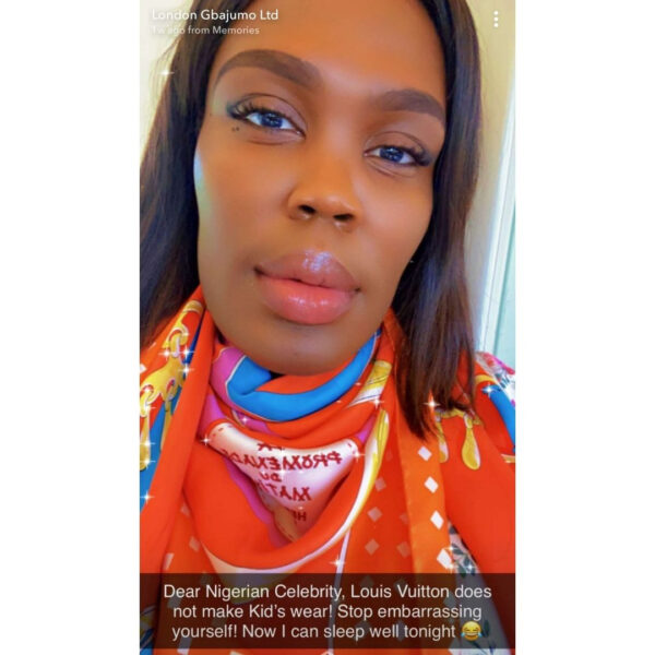 Ubi Franklin drags luxury shopper London Gbajumo 2