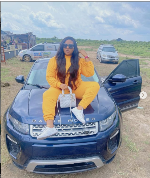 Actress Nkechi Blessing shows off her new whip Photos