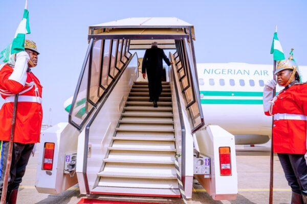 Buhari departs Nigeria