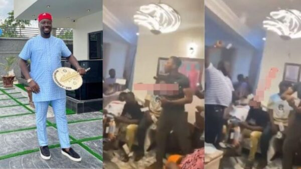 Checkout the moment guests at Obi Cubanas mothers burial stoned each other with cash Video