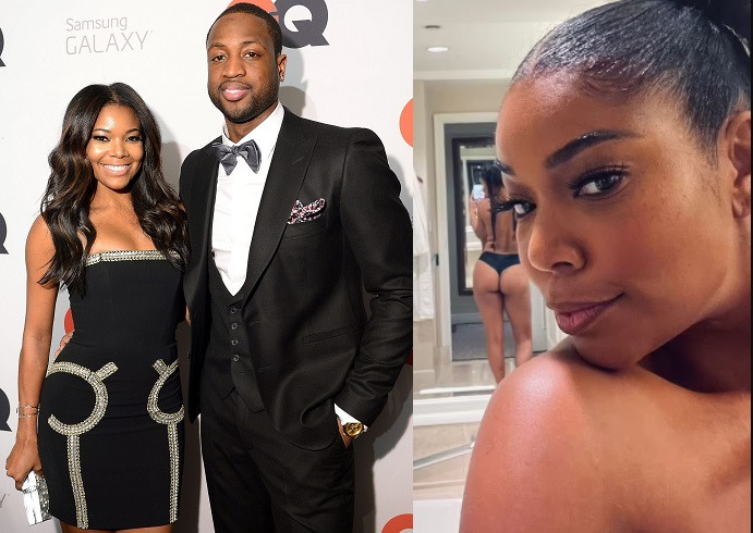 Dwyane Wade shares topless photo of wife Gabrielle Union with her backside on display says This is 48
