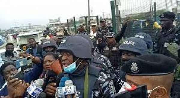 Lagos police Yoruba Nation rally
