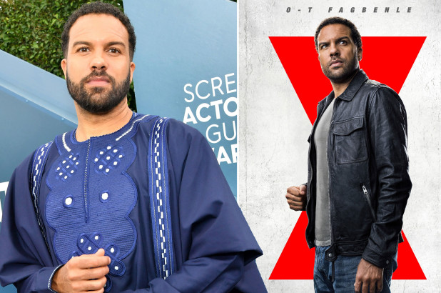 O T Fagbenle says its 'pretty surreal starring in 'Black Widow