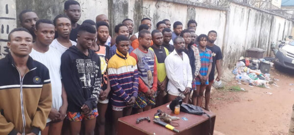 Police arrest 28 suspected cultists others in Delta