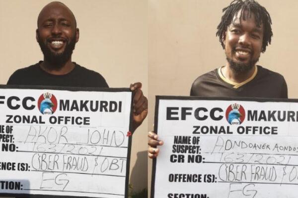 Smiling yahoo boys bag jail sentences