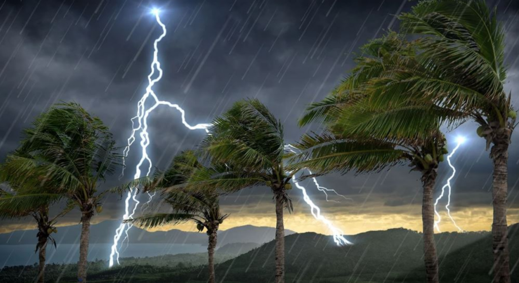 rain and thunderstorm