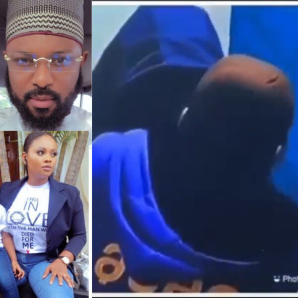 BBNaijas Tegas husband reacts after she allowed male housemate Saga suck her breast on live TV video