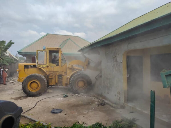 Benue State Government demolishes kidnappers den