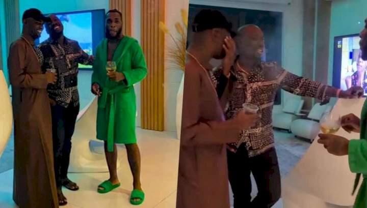 Billionaires Obi Cubana Jowizaza pay surprise visit to Burna Boy Video