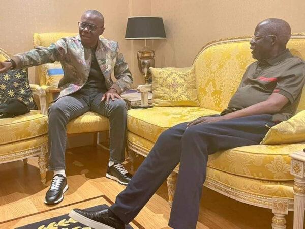 Governor Sanwo Olu visits Bola Tinubu in the UK photos