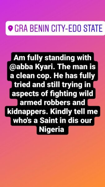 Isreal DMW stands with Abba Kyari