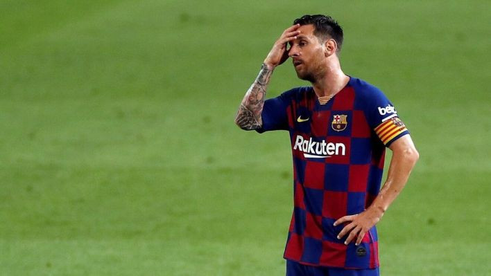 Lionel Messi banned from Barcelona training as contract saga continues