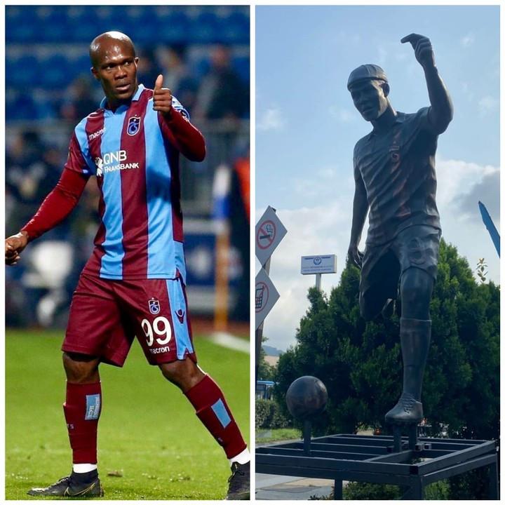 Nigerian footballer Anthony Nwakaemes statue erected In Turkey photos