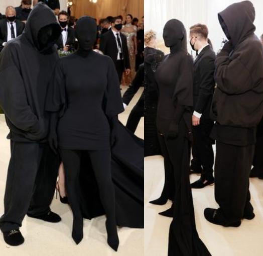 Kim Kardashian poses with fake Kanye West
