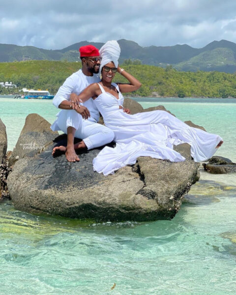 Media personality Debola Williams and wife spend their honeymoon in Seychelles