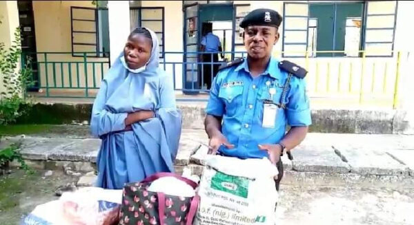 Suspected bandits wife arrested with 6 gallons of petrol hidden under her hijab in Katsina