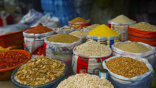 Food Items at Utako Market Abuja.