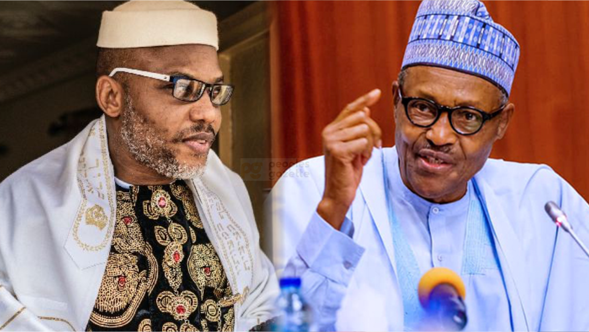 IPOB Leader Nnamdi Kanu and President Muhammadu Buhari